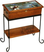 Medium Curio Box w/shelf on iron